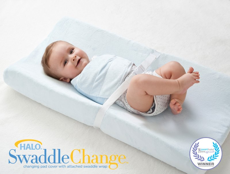 Halo SwaddleChange Changing Pad Cover - Blue (2 PACK)