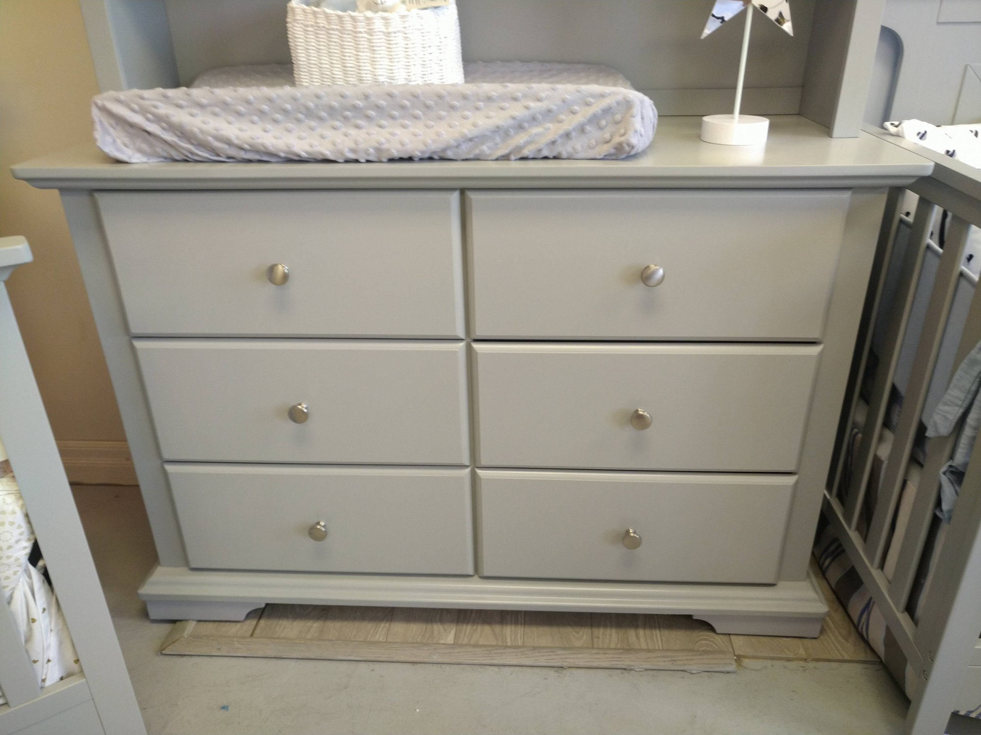 Devon Double Dresser - Light Grey (CURBSIDE PICK-UP ONLY)