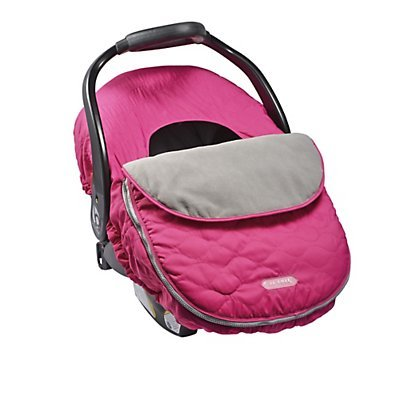 JJ Cole CAR SEAT COVER - SASSY PINK WAVE STITCH