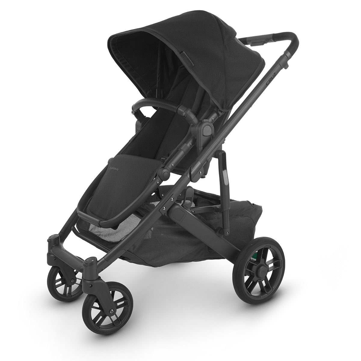 UPPABaby CRUZ V2 Stroller - JAKE (Black/Carbon/Black Leather)