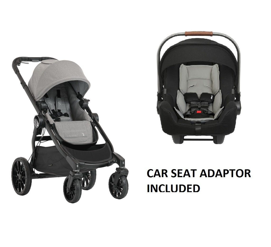 Baby Jogger City Select Lux Stroller w/ Nuna Pipa Car Seat