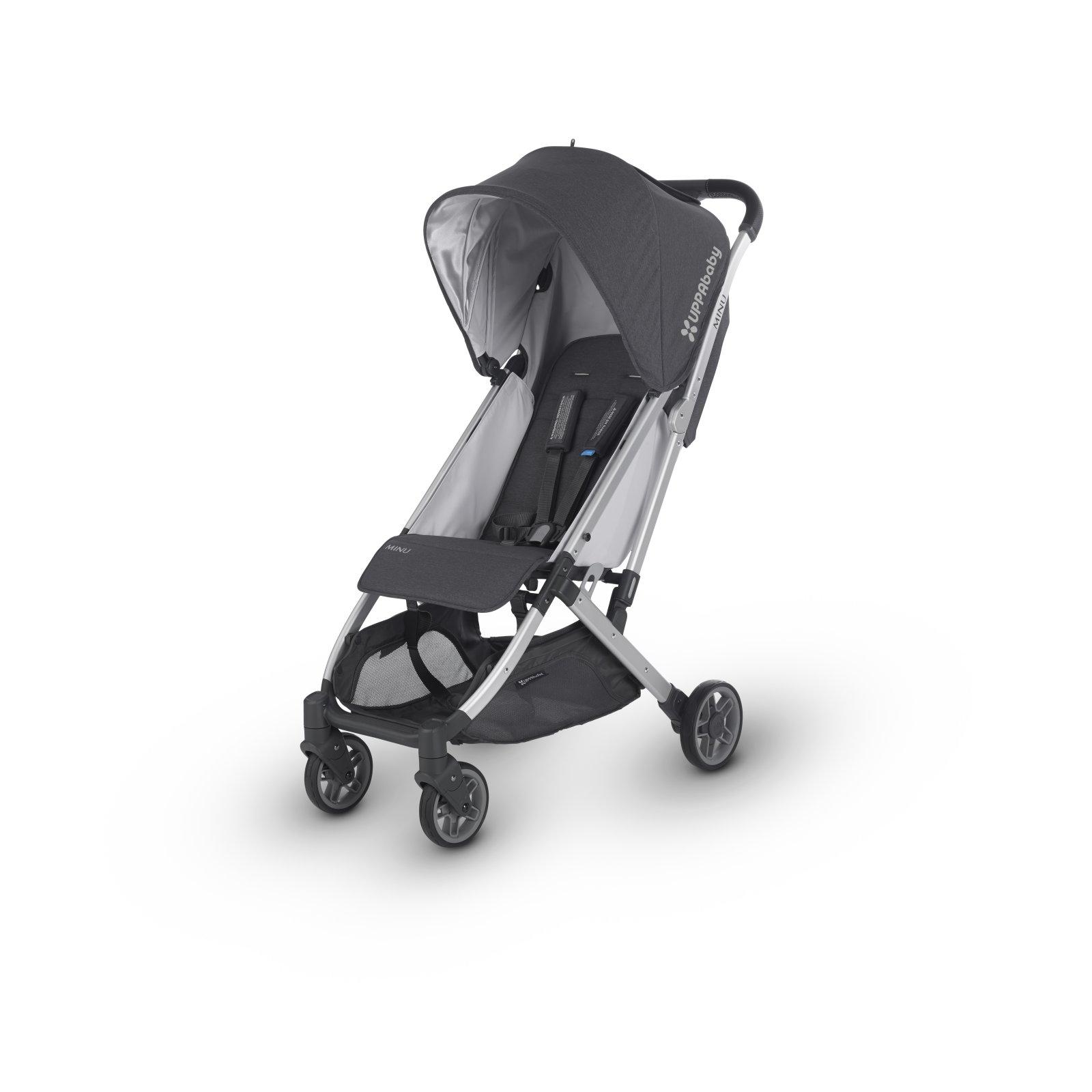 UPPAbaby MINU Stroller - JORDAN (Charcoal M?lange/Silver/Black Leather)