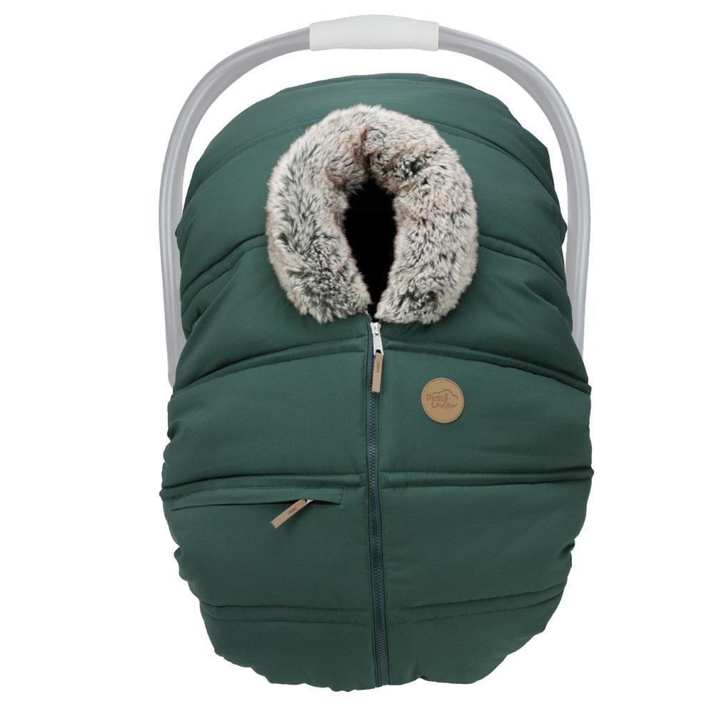 Petit Coulou Winter Baby Car Seat Cover -  Boreal / wolf