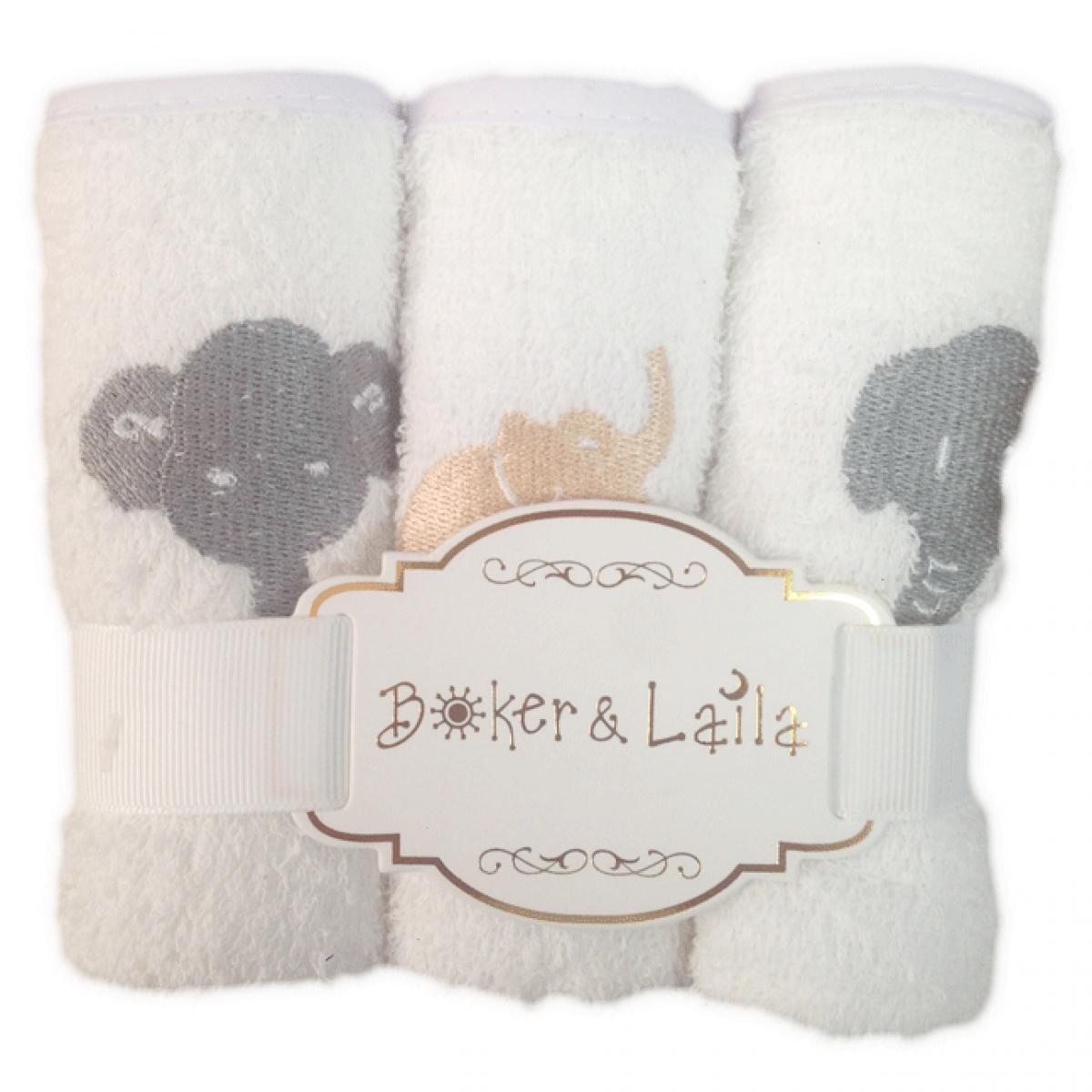 Boker & Laila 3Pk Wash Cloths