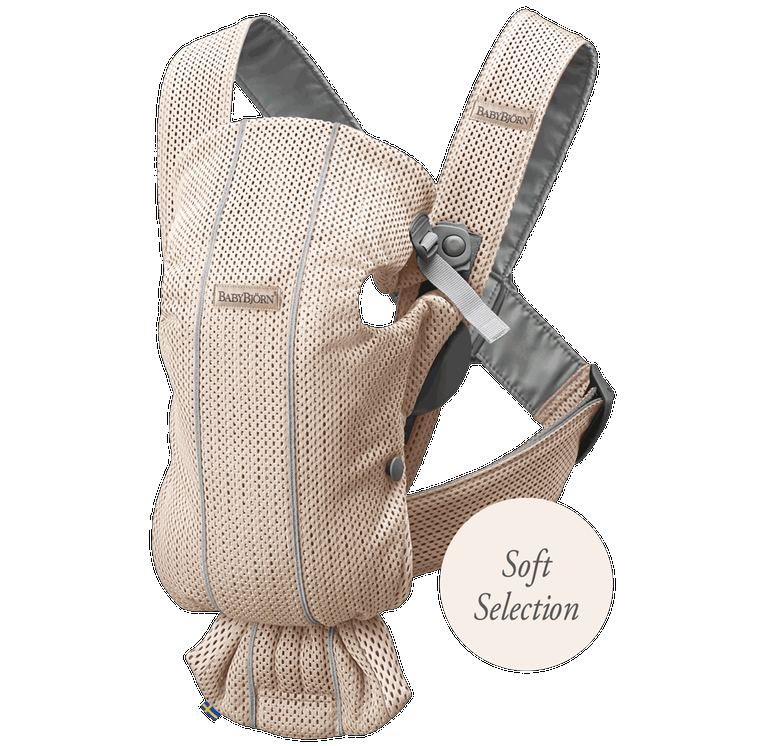 BABYBJORN Baby Carrier Mini, 3D Mesh - Pearly Pink