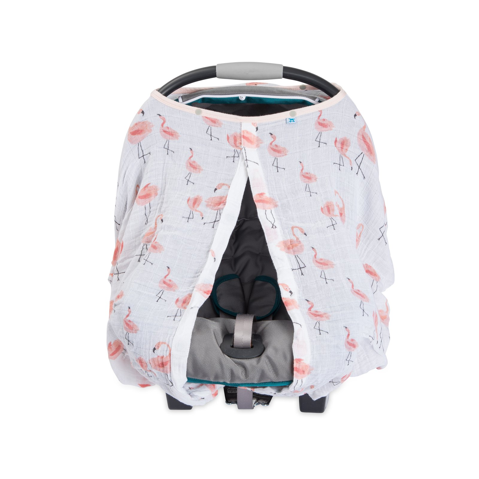 Little Unicorn Cotton Muslin Car Seat Canopy - Pink Ladies