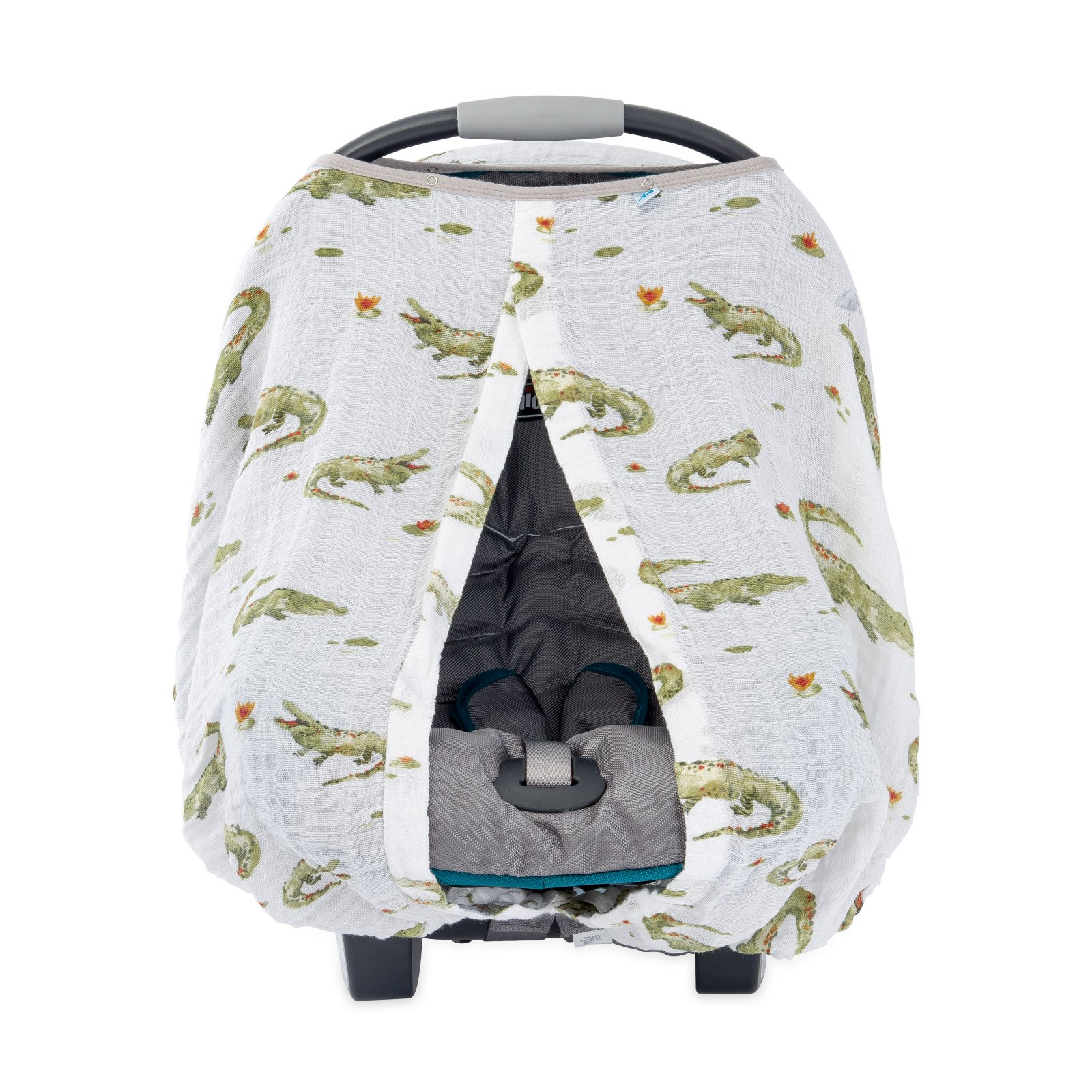 Little Unicorn Cotton Muslin Car Seat Canopy - Gators