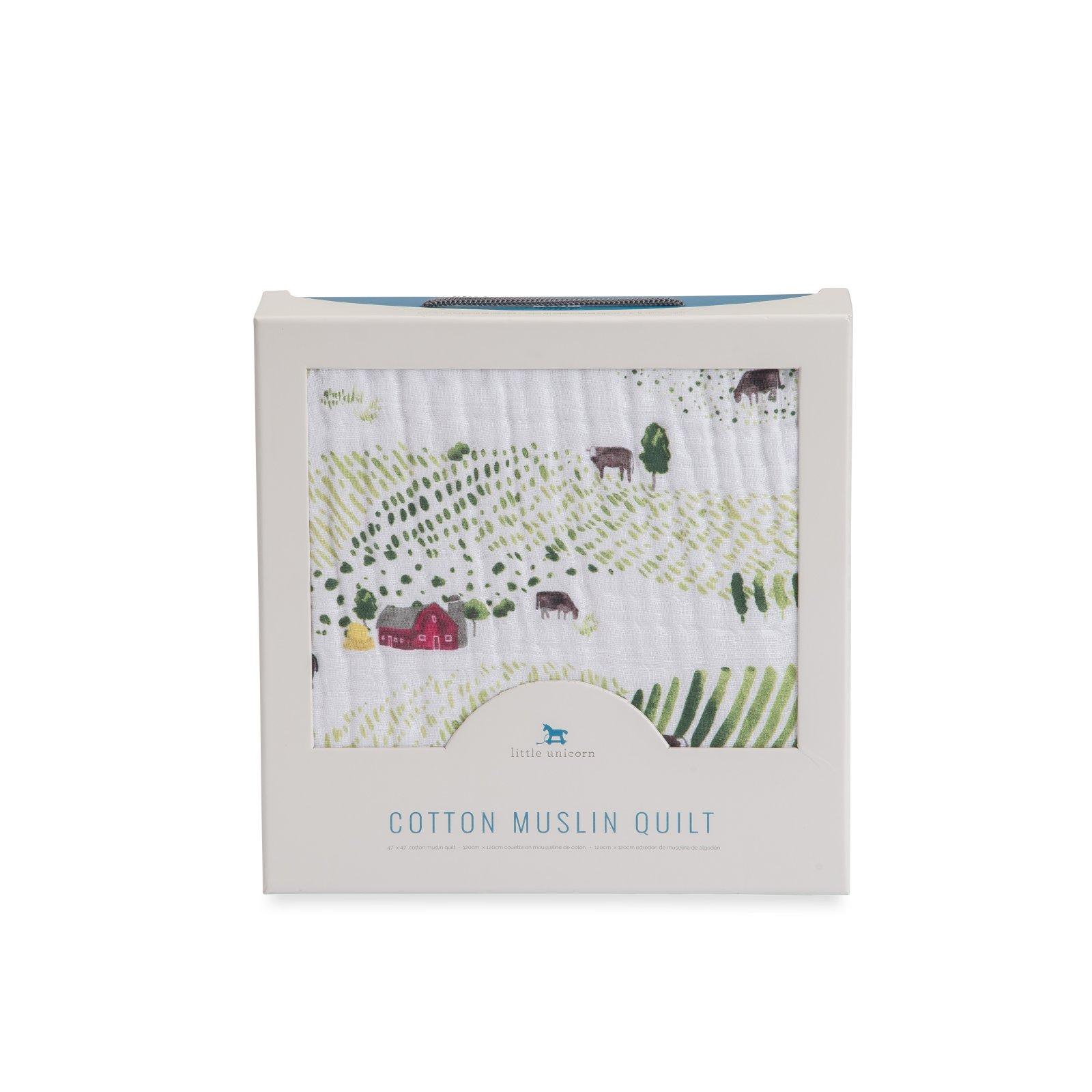 Little Unicorn Cotton Muslin Quilt - Rolling Hills