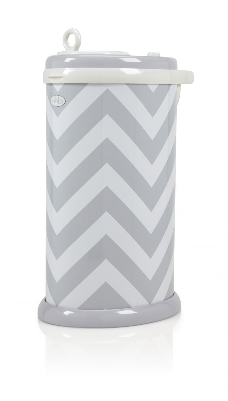 UBBI Diaper Pails - Grey Chevron