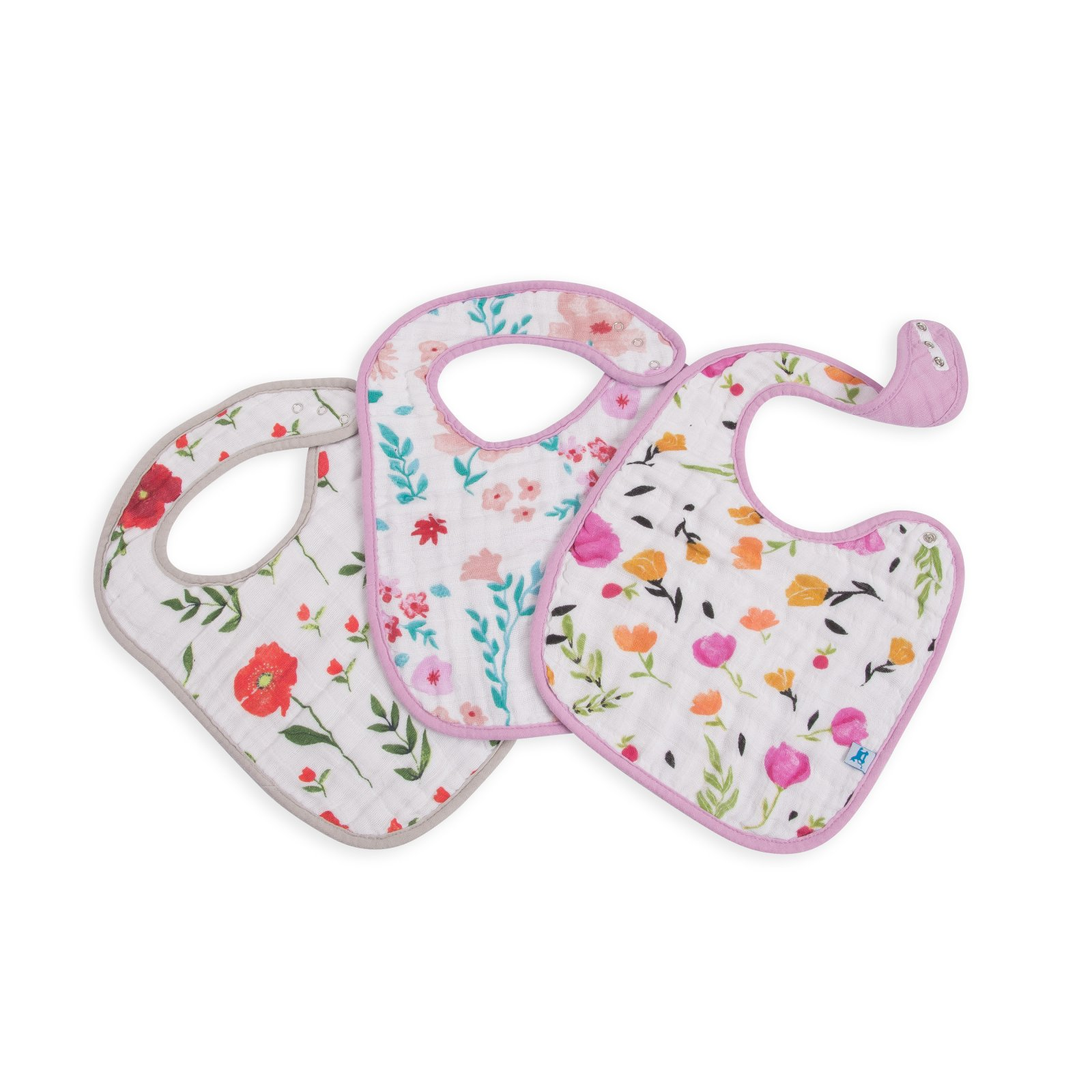 Little Unicorn Cotton Muslin Classic Bib 3 Pack - Floral Medley
