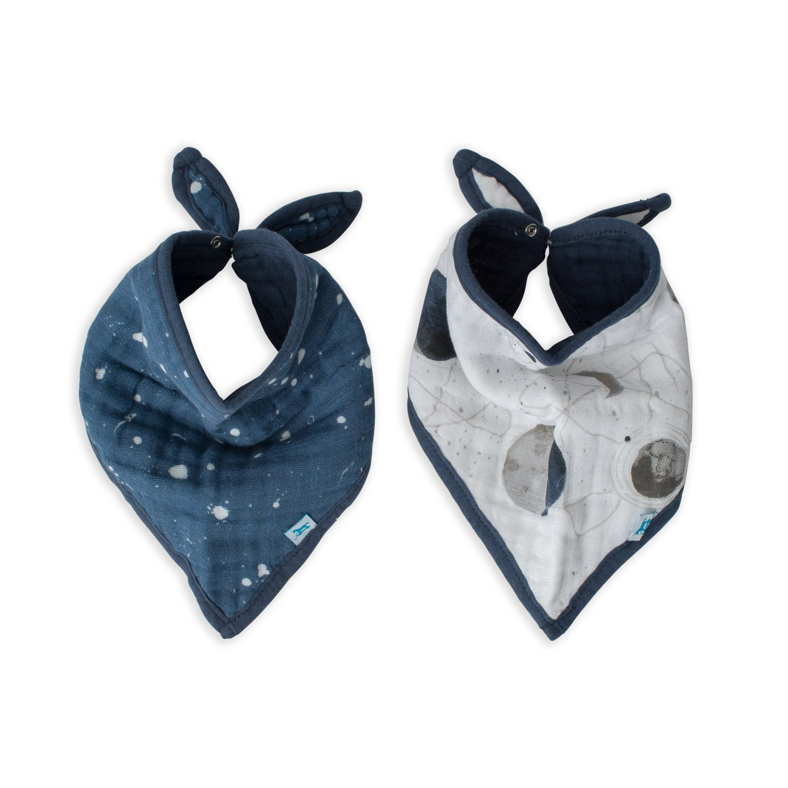 Little Unicorn Cotton Muslin Bandana Bib 2 pack - Planetary
