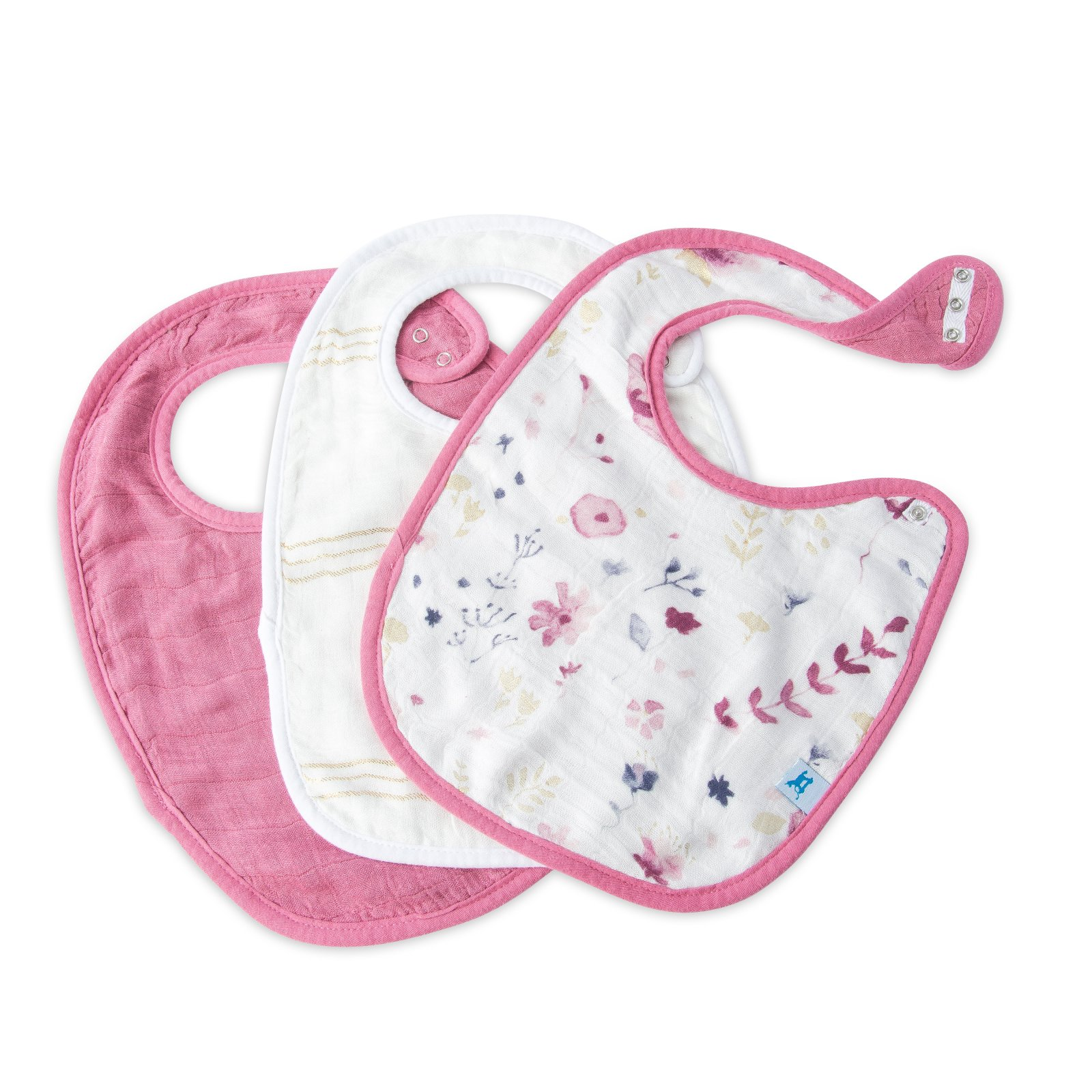 Little Unicorn Deluxe Muslin Classic Bib 3 Pack - Fairy Garden