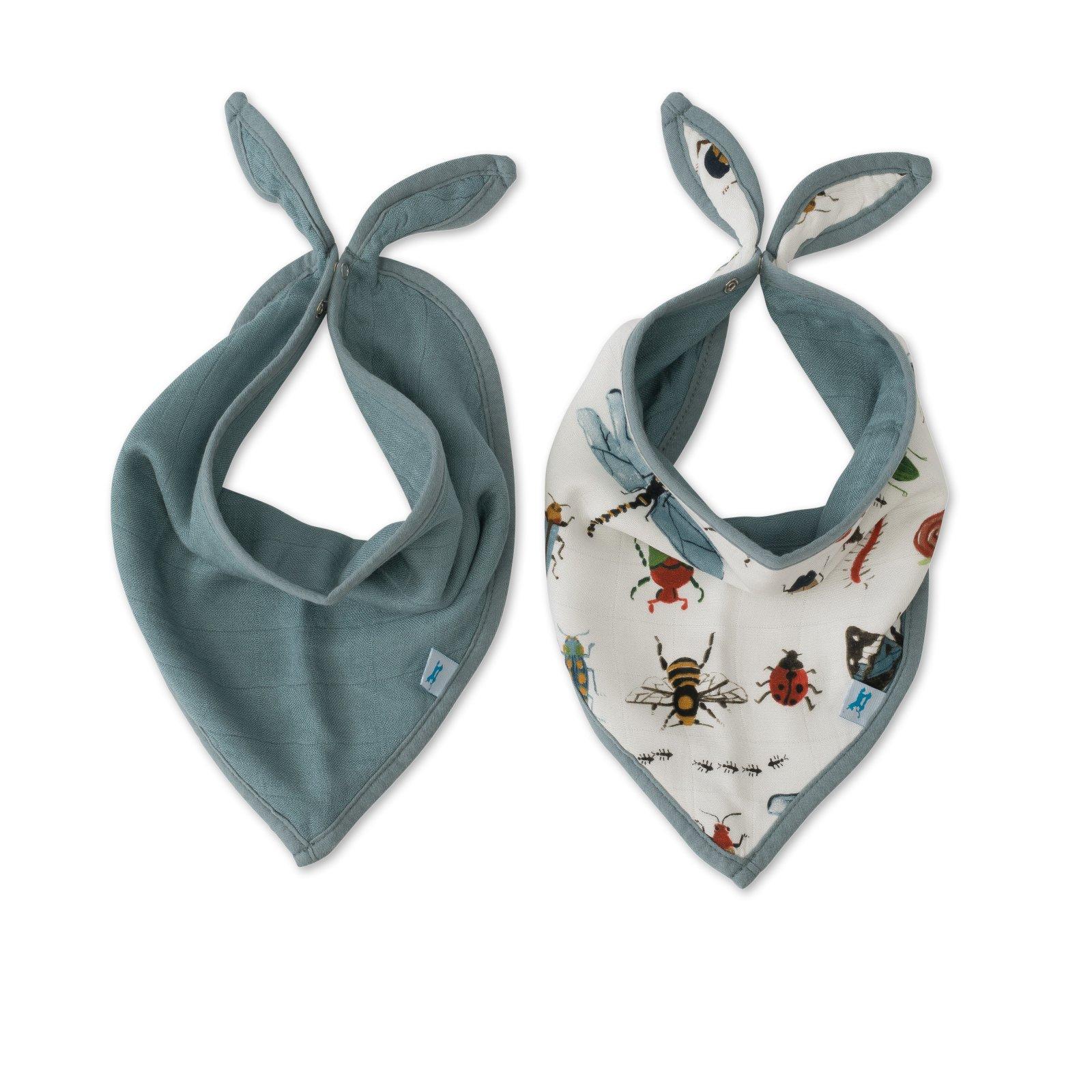 Little Unicorn Deluxe Muslin Bandana Bib 2 Pack - Bugs