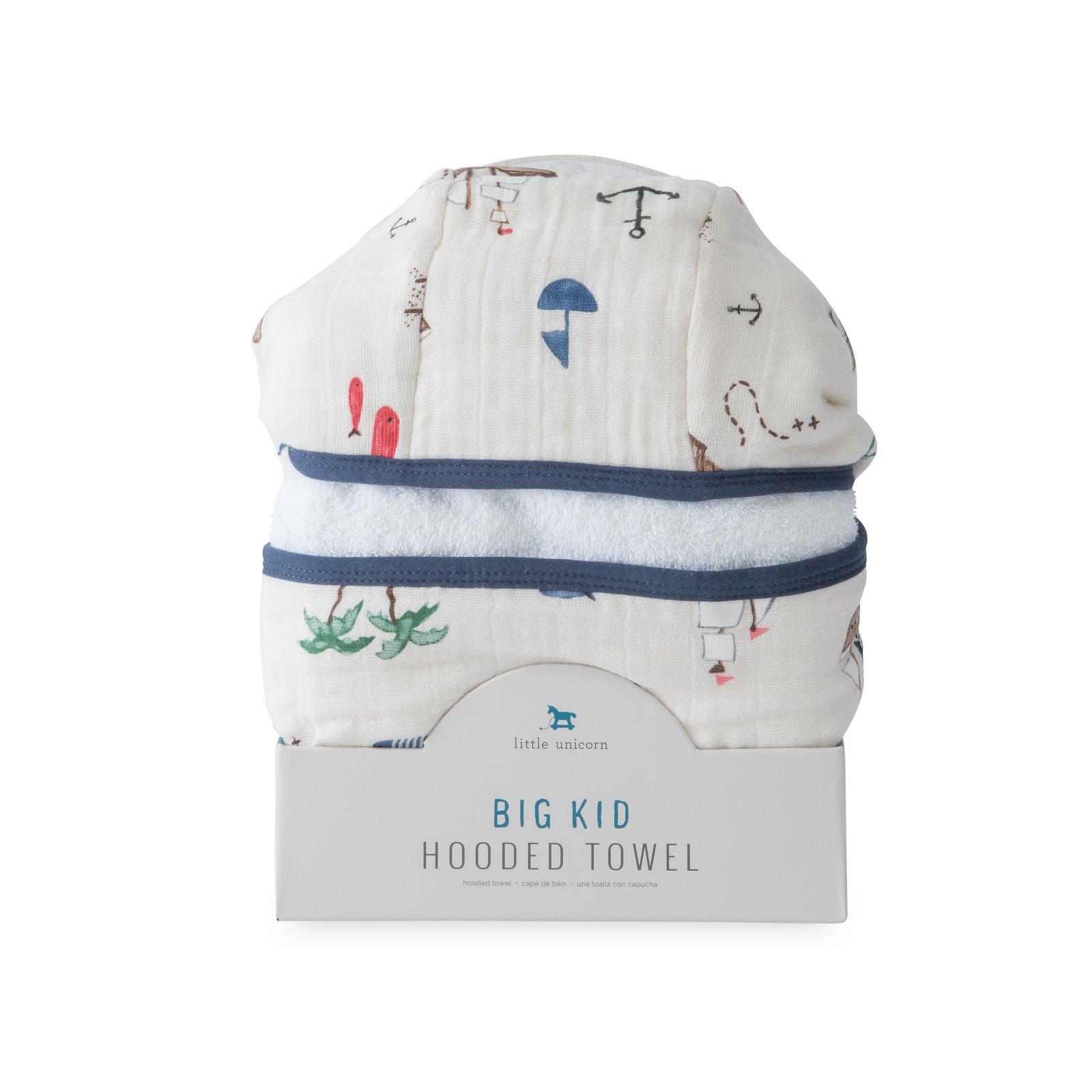 Little Unicorn Cotton Hooded Towel Big Kid - Treasure Map