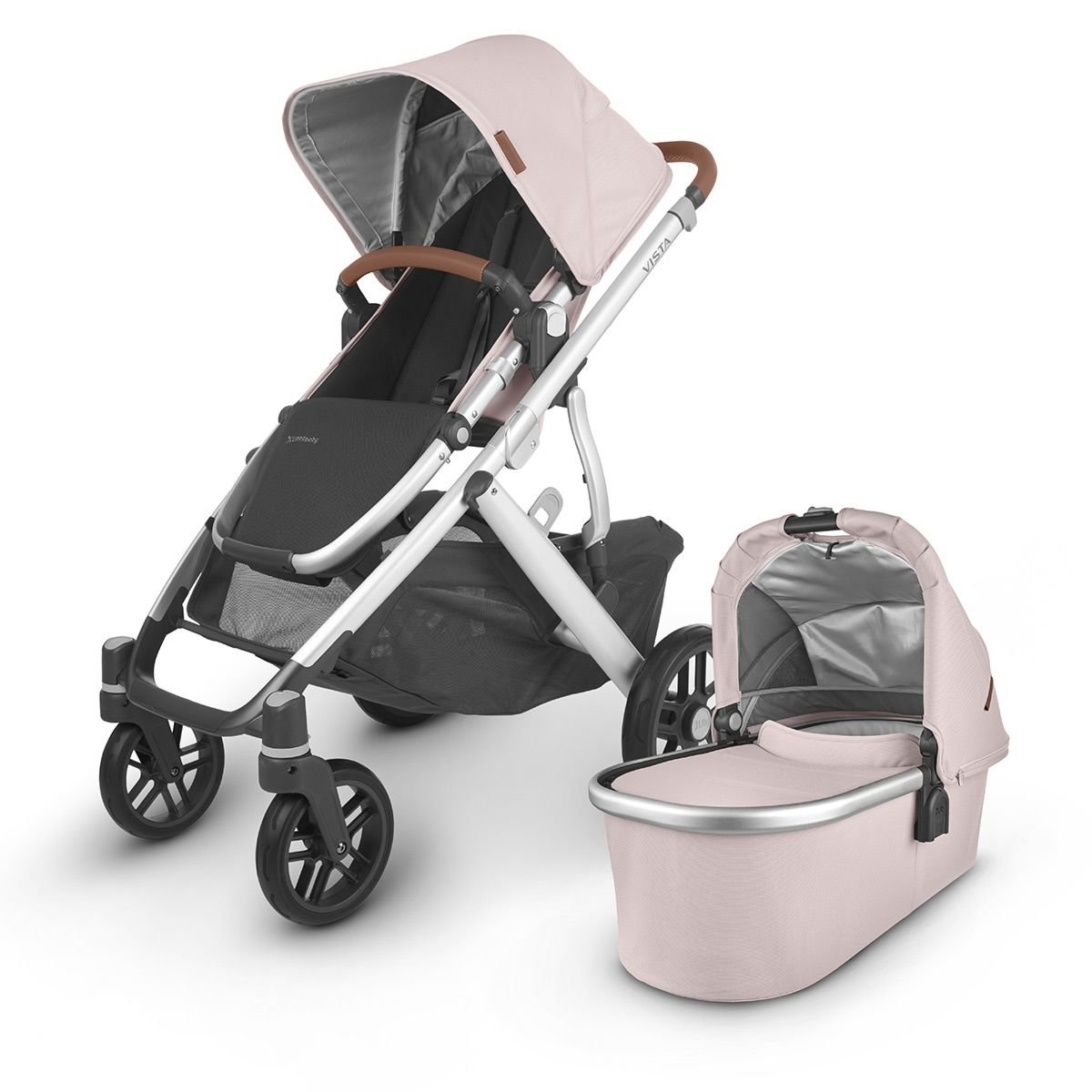 UPPABabyVISTA V2 Stroller - ALICE (Dusty Pink/Silver/Saddle Leather)