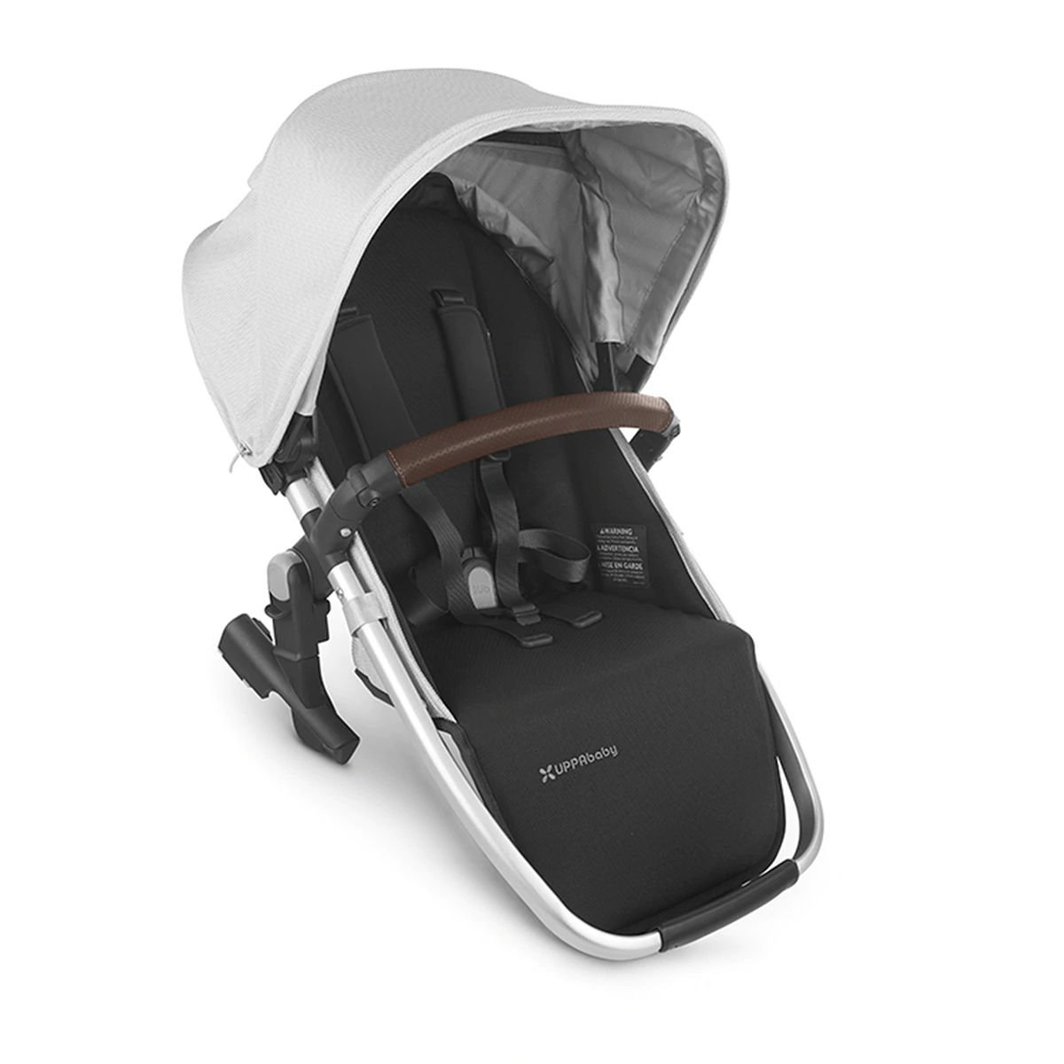 UPPABaby VISTA V2 RumbleSeat - BRYCE (White Marl/Silver/Saddle Leather)