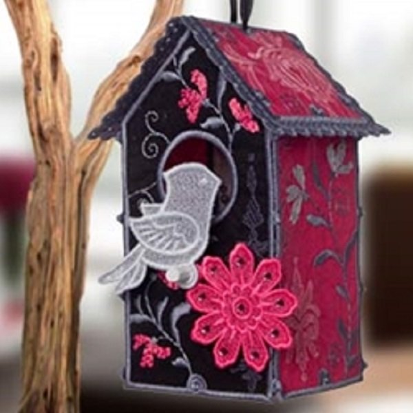 OESD Damask Birdhouse Machine Embroidery CD