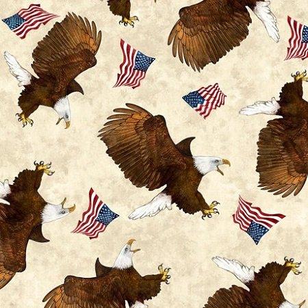 All American Eagle Toss - Cream