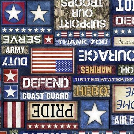 All American Patriot Text - Navy