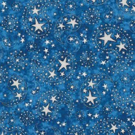 All American Star Paisley - Dark Blue