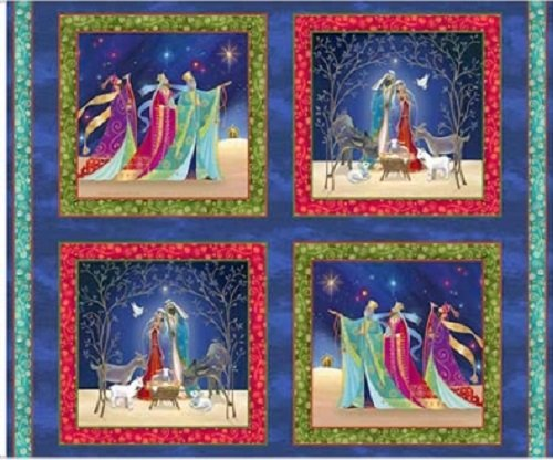 Christ Is Born Nativity Patches Panel