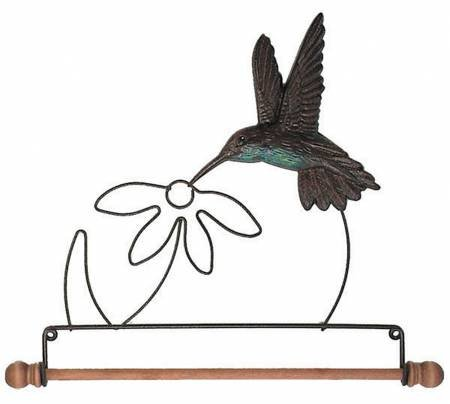 7-1/2in Tin Humming Bird Fabric Holder