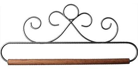6-1/2in French Curls Gray Fabric Holder