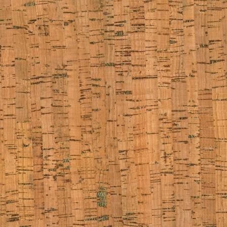 Prepacked Cork Blend Fabric Natural/Gold Metallic