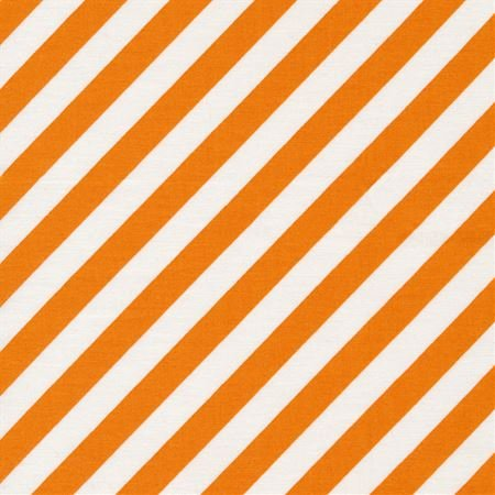 KimberBell Hometown Halloween Orange and White Stripe