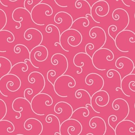 KimberBell Basics Scroll - Pink FQ