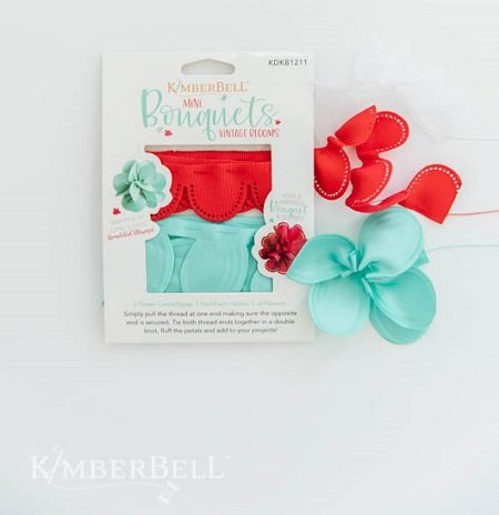 KimberBell Mini Bouquet White, Red & Teal
