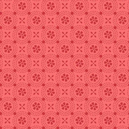KimberBell Basics Dotted Circles - Coral FQ
