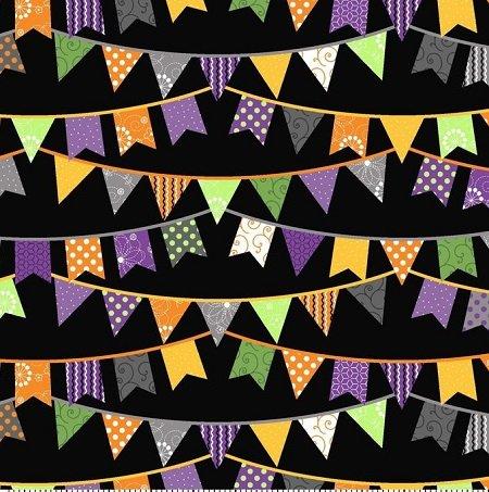 KimberBell Hometown Halloween Black Flags