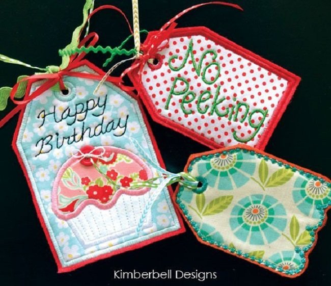 Kimberbell Gift Card Pocket Tags Machine Embroidery