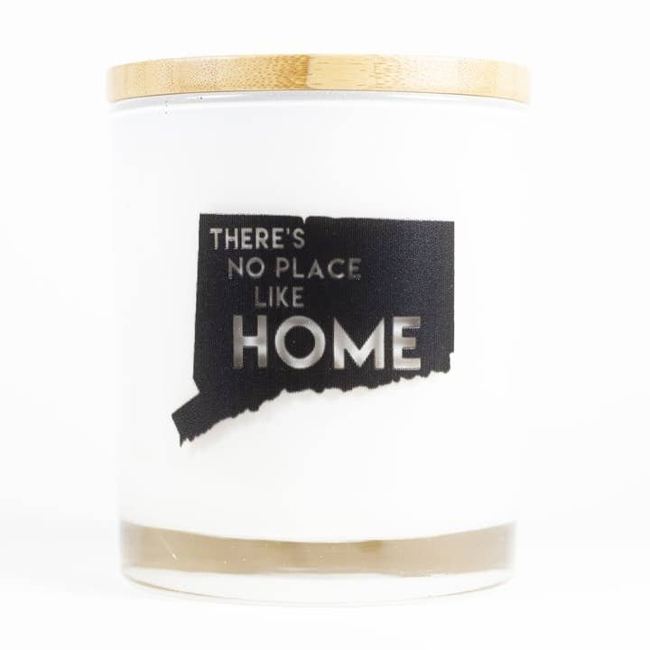 Connecticut No Place Like Home Soy Candle - Apples and Maple Bourbon Scent - by Unplug Soy Candles