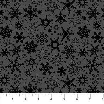 Basically Black + White - Snowfall - By Patrick Lose For Northcott Fabrics