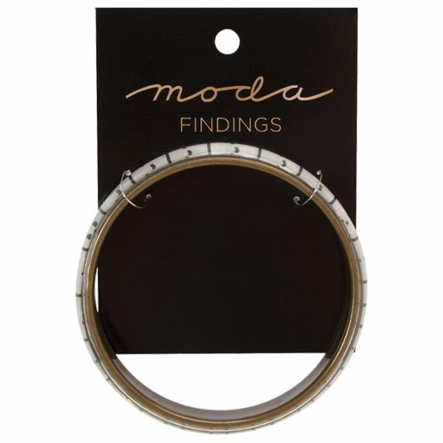 Bangle Tape Measure -  White Bracelet - by Moda Fabrics