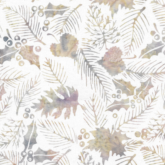 Plum Pudding - Dusty Rose Hollyberries - By Island Batiks