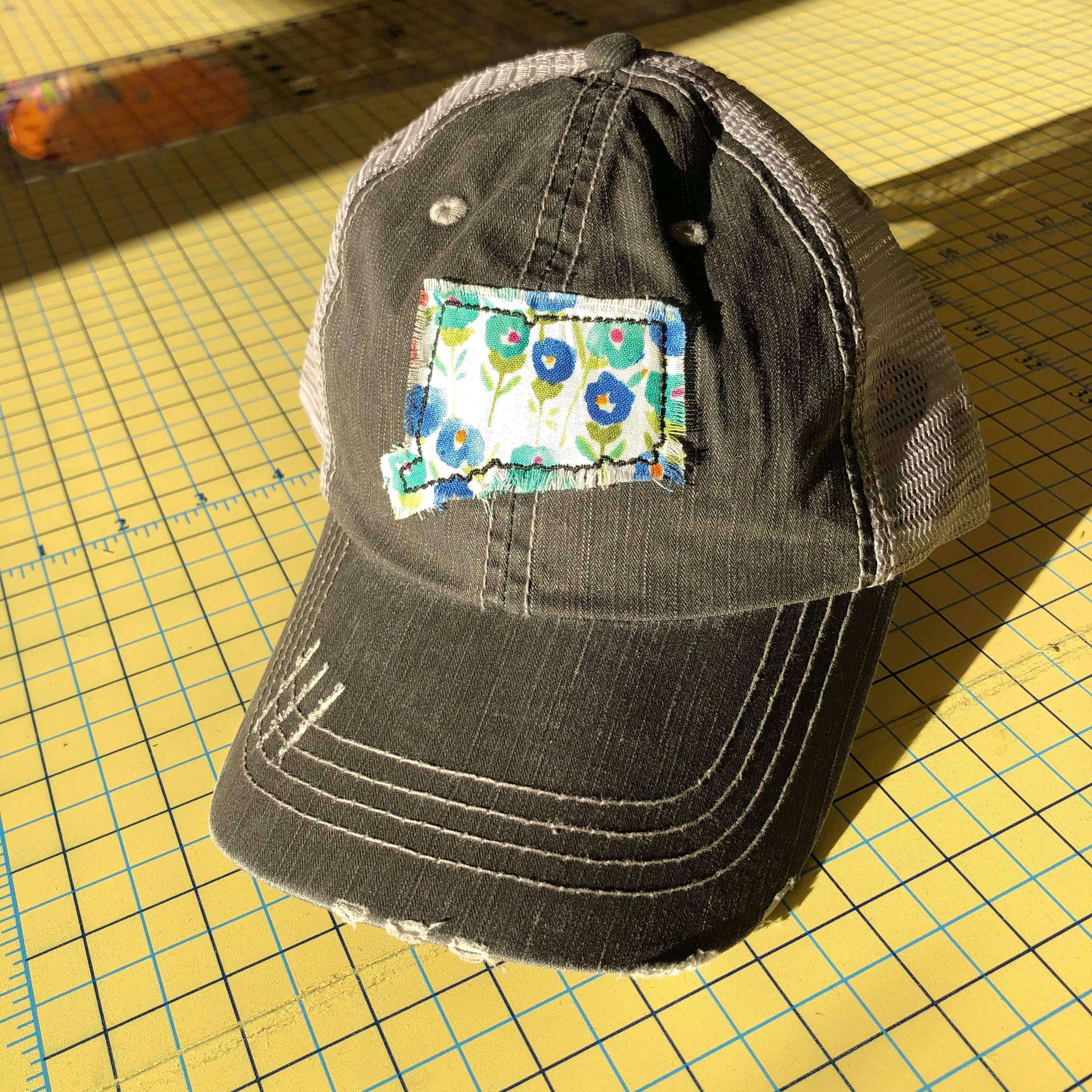 Patched Hat - Connecticut  Patch Trucker Hat