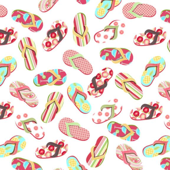 Let's Flamingle! - Flip Flops - By SunDance Studio For Blank Quilting Co