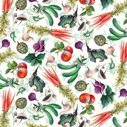 Blissful Bounty - Veggie Toss - By D. DonFrancisco For Blank Quilting Co.