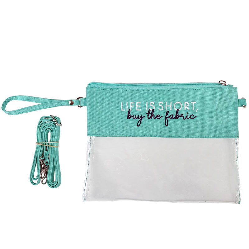 Clear Purse - Life Is Short Buy The Fabric - By Wholesale Boutique