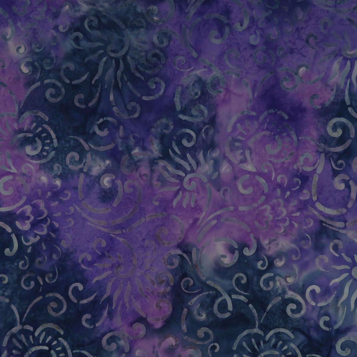 Arc of Iris - Swirly, Gray - by Batik by Mirah