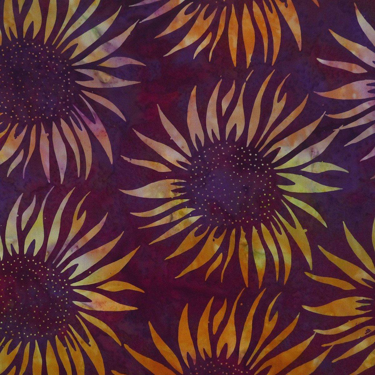 Cornucopia - Sunflower, Gloxinia - by Batik by Mirah
