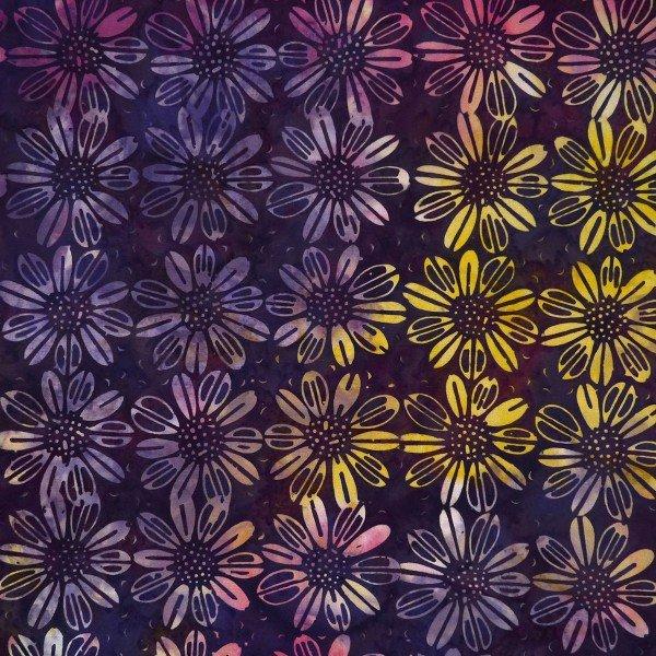 Cornucopia - Flower, Buff Purple - by Batik by Mirah