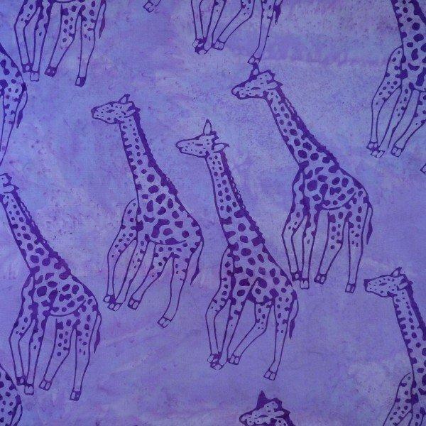 Woodland Feast - Giraffe, Paisley Purple - by Batik by Mirah