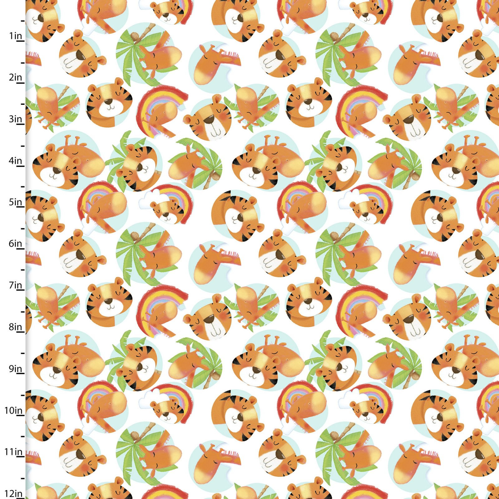 Welcome To The Jungle - Jungle Friends*Flannel* - By Scott Barnes For 3 Wishes Fabric