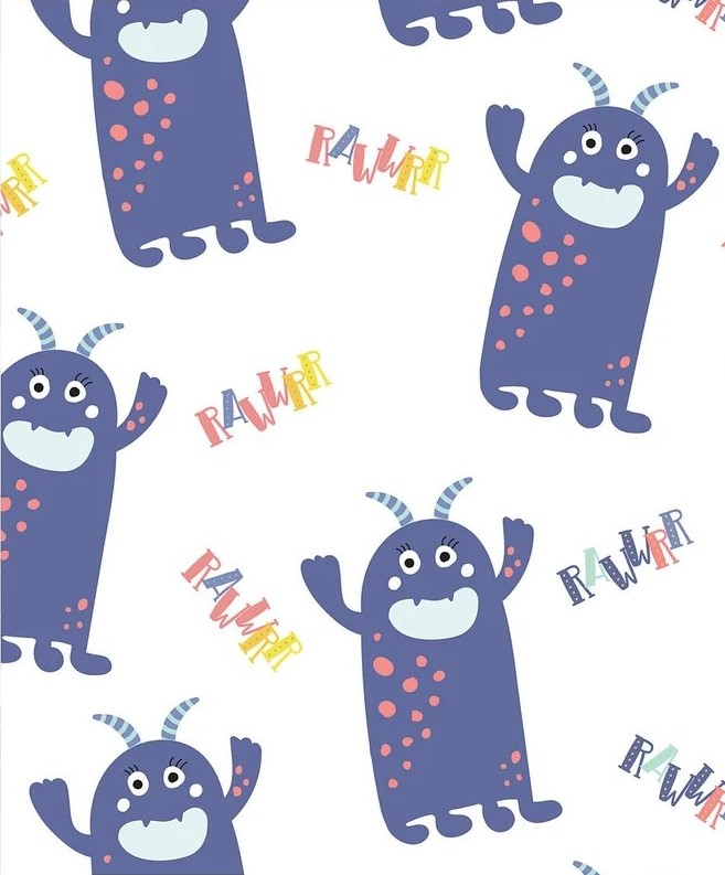 Cute Little Monsters - Monster Roar - By The Craft Cotton Company