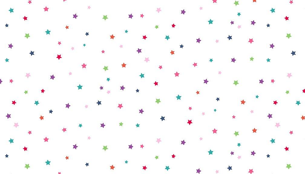 Daydream - Multicolor Stars, White - by Makower UK