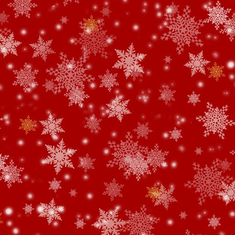 Gifts From Santa - Snowflakes, Red - by QT Fabrics